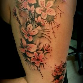 COLOUR,KLEUR,KERSENBLOESEM,CHERRY BLOSSOM,TATTOO,TATOEAGE