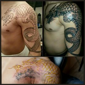 TATTOO,TATOEAGE,HANDS FREE,BLACK AND GREY,JAPANS,JAPANESE,DRAAK,DRAGON