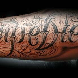 CAPRI DIEM ,CHICANO LETTERS,TATTOO,TATOEAGE