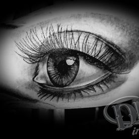 tattoo,tatoeage,realistisch oog,realistic eye,black and grey
