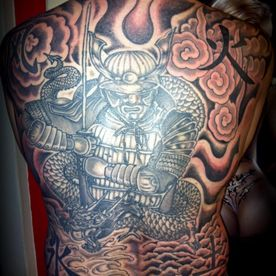 TATTOO,TATOEAGE,JAPANS,JAPANESE,BLACK AND GREY,SAMURAI,TATTOO RUGSTUK,TATTOO ON BACK ,WATER,EARTH,FIRE,WIND