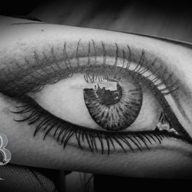TATTOO,TATOEAGE,REALISTISCH,REALISTIC,BLACK AND GREY,OOG,EYE,SMOKING EYE